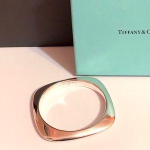 Tiffany & Co square cushion bangle bracelet